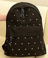 Стильный городской молодежный рюкзак с заклепками