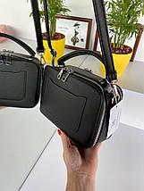 Женская сумка кросс-боди Fantasy на две молнии черная СФ570, фото 2