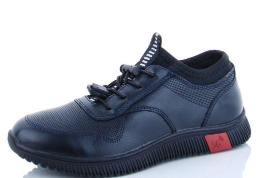 Школьные туфли для мальчика, кожа, размеры 31-36, замеры в описании (Черные)