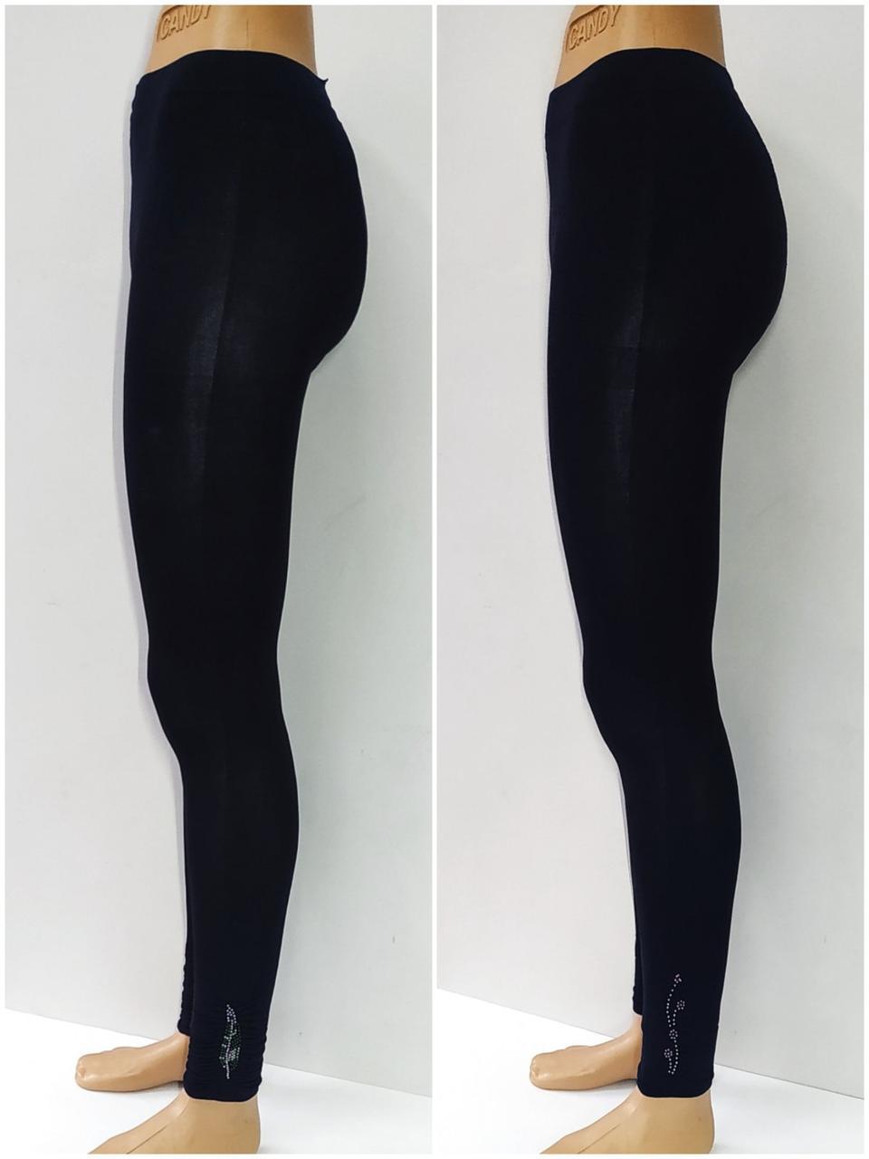 Лосины женские трикотаж, черные  B97790