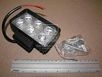Фара LED прямоугольная 18W, 6 ламп, 110*60*50мм, широкий луч 12/24V (Китай) 27100040