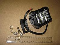 Фара LED прямоугольная 18W, 6 ламп, 99*107мм, узкий луч 12/24V (ТМ JUBANA) 453701047