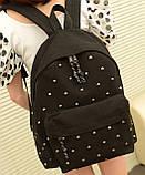 Стильный городской молодежный рюкзак с заклепками, фото 2