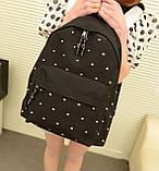 Стильный городской молодежный рюкзак с заклепками, фото 7