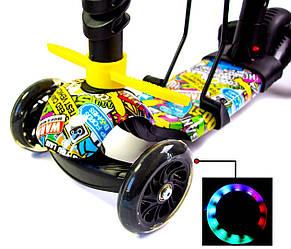 Самокат детский ScooTer 5в1 Божья Коровка Graffity четырехколесный (Разноцветный), фото 3