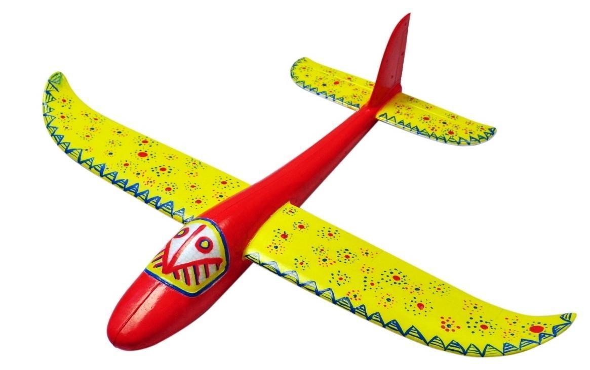 Планер метательный J-Color Hawk 600мм c комплектом красок - Игрушечные машинки, самолетики, техника