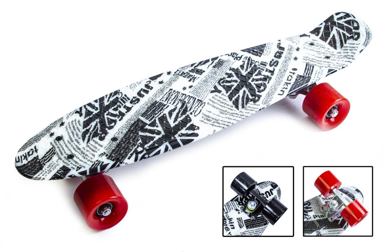 Пенни борд Penny 22″ с рисунком British item Матовые красные колеса - Скейтборды и роллерсерфы