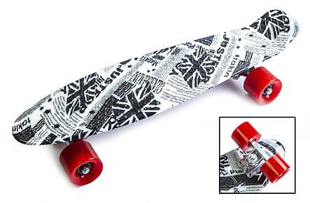 Пенни борд Penny 22″ с рисунком British item Матовые красные колеса - Скейтборды и роллерсерфы, фото 2