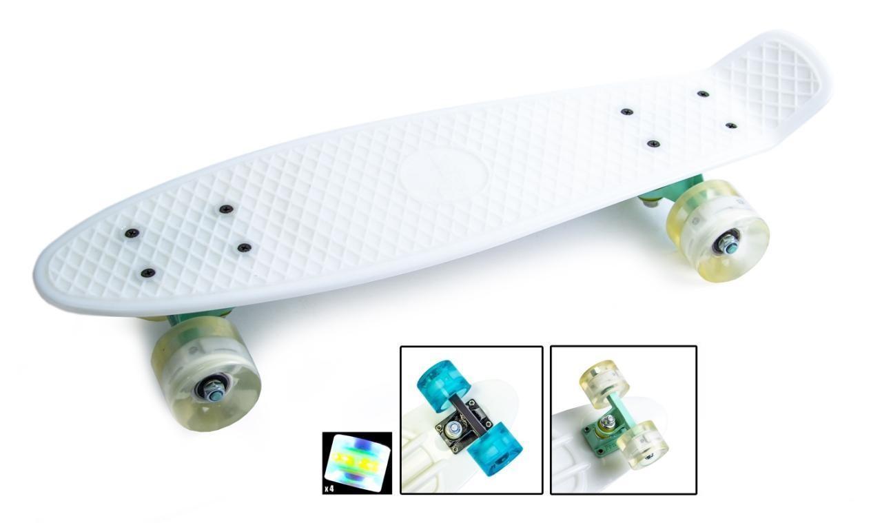 Пенни борд Penny 22″ Pastel Series (Белый) Светящиеся колеса - Скейтборды и роллерсерфы