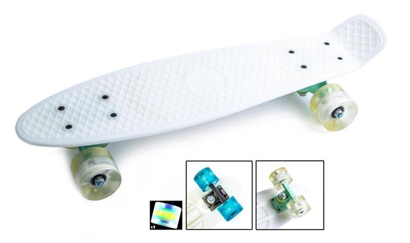 Пенни борд Penny 22″ Pastel Series (Белый) Светящиеся колеса - Скейтборды и роллерсерфы, фото 2