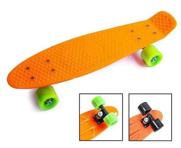 Пенни борд Penny 22″ Сlassic (Оранжевый) Матовые колеса - Скейтборды и роллерсерфы, фото 2