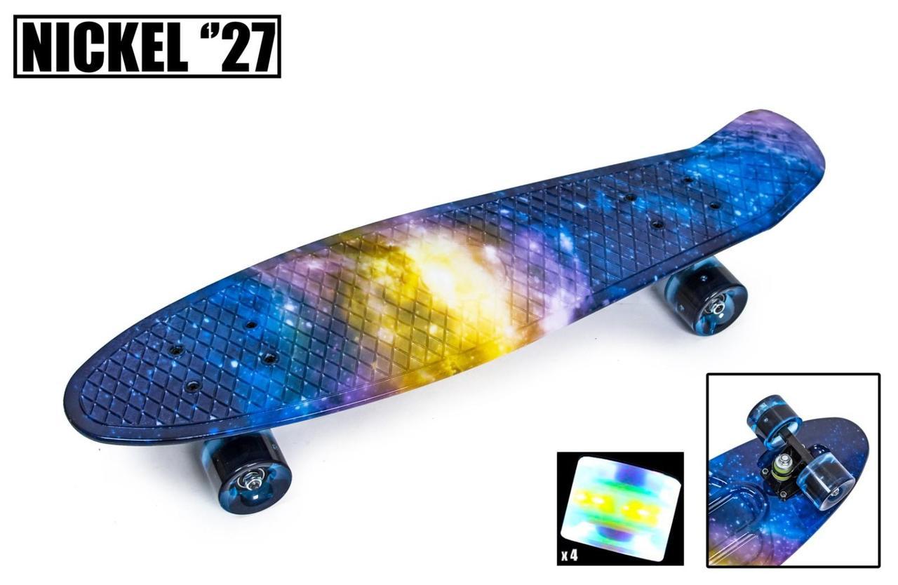Пенни борд Penny 27″ Nickel с рисунком Universe Светящиеся колеса - Скейтборды и роллерсерфы