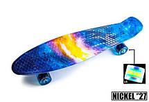 Пенни борд Penny 27″ Nickel с рисунком Universe Светящиеся колеса - Скейтборды и роллерсерфы, фото 3