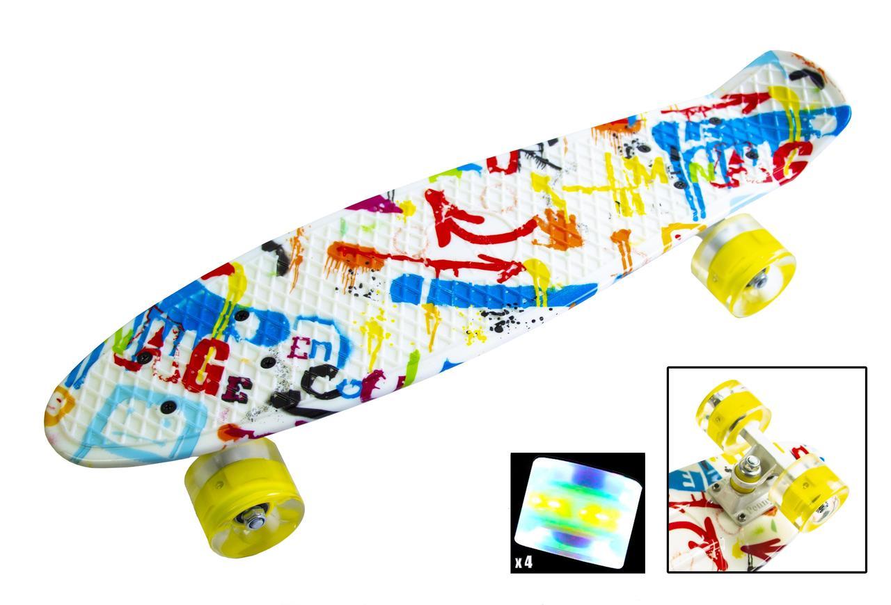 Пенни борд Penny Versicolor 22″ со светящимися колесами - Скейтборды и роллерсерфы