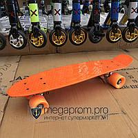 Скейтборд пенни борд детский для девочек мальчиков начинающих пластиковый