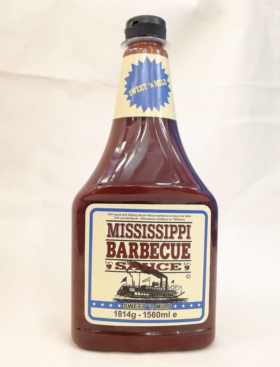 Mississippi Barbecue Sauce Sweet n Mild Соус Барбекю 1560ml