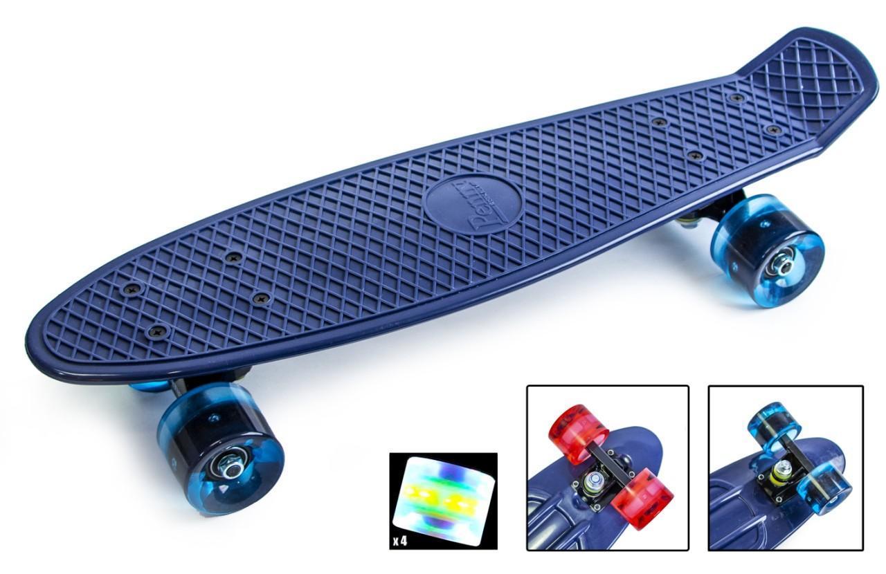 Пенни борд Penny 22″ Pastel Series (Темно-синий) Светящиеся колеса - Скейтборды и роллерсерфы