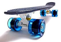 Пенни борд Penny 22″ Pastel Series (Темно-синий) Светящиеся колеса - Скейтборды и роллерсерфы, фото 2