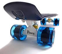 Пенни борд Penny 22″ Pastel Series (Темно-синий) Светящиеся колеса - Скейтборды и роллерсерфы, фото 3