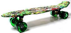 Пенни борд Penny Green cane 22″ со светящимися колесами - Скейтборды и роллерсерфы, фото 3
