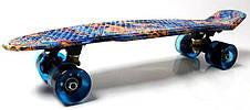 Пенни борд Penny Blue pyramid 22″ со светящимися колесами - Скейтборды и роллерсерфы, фото 3