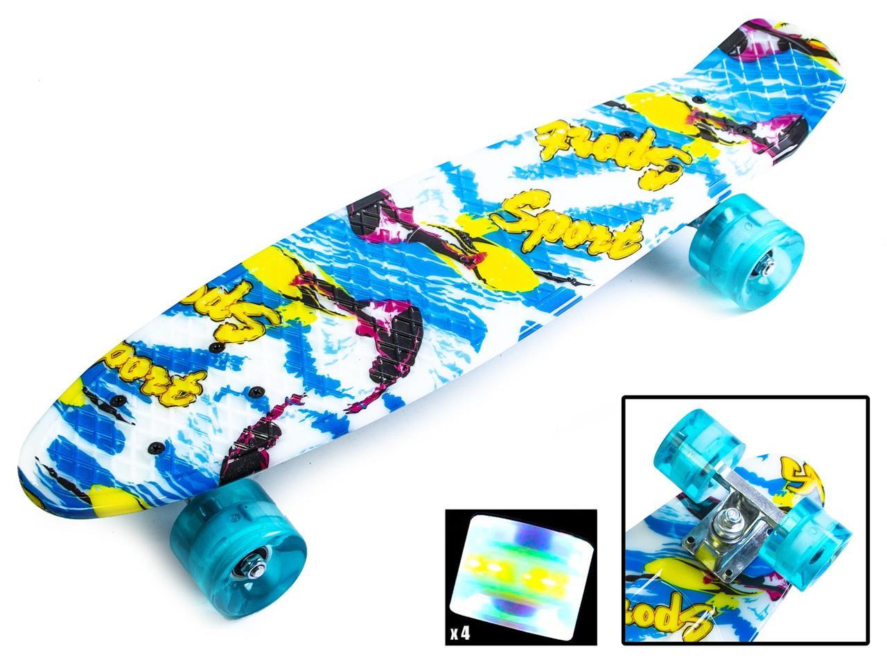 Пенни борд Penny Sport surfing 22″ со светящимися колесами - Скейтборды и роллерсерфы