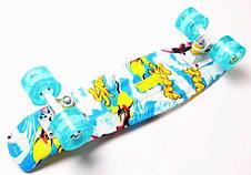 Пенни борд Penny Sport surfing 22″ со светящимися колесами - Скейтборды и роллерсерфы, фото 2