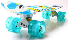 Пенни борд Penny Sport surfing 22″ со светящимися колесами - Скейтборды и роллерсерфы, фото 3