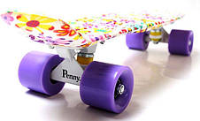 Пенни борд Penny 22″ с рисунком Violet Flowers - Скейтборды и роллерсерфы, фото 3