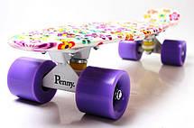 Пенни борд Penny 22″ с рисунком Violet Flowers - Скейтборды и роллерсерфы, фото 2