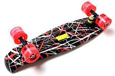 Пенни борд Penny Red design 22″ со светящимися колесами - Скейтборды и роллерсерфы, фото 2