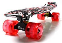 Пенни борд Penny Red design 22″ со светящимися колесами - Скейтборды и роллерсерфы, фото 3