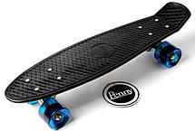 Пенни борд Penny 22″ Logo Engraving Золотая подвеска (Черный) Синие колеса - Скейтборды и роллерсерфы, фото 3