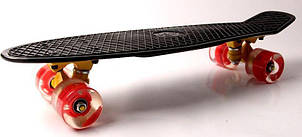 Пенни борд Fish Classic 22″ Черный (Светящиеся красные колеса) - Скейтборды и роллерсерфы, фото 2