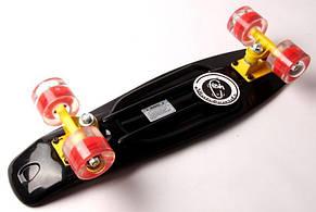Пенни борд Fish Classic 22″ Черный (Светящиеся красные колеса) - Скейтборды и роллерсерфы, фото 3