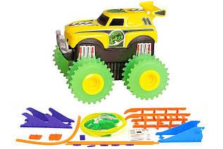 Машинка на бат. Trix Trux набор с трассой (желтый) - Тематические игровые наборы