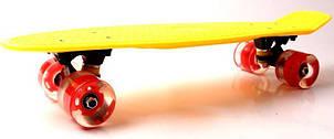 Пенни борд Fish Classic 22″ (Желтый 2) Светящиеся колеса - Скейтборды и роллерсерфы, фото 2