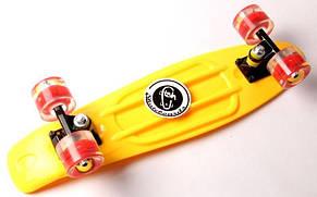 Пенни борд Fish Classic 22″ (Желтый 2) Светящиеся колеса - Скейтборды и роллерсерфы, фото 3