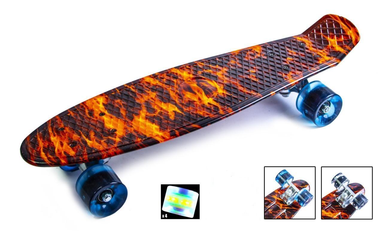 Пенни борд Penny Fire 22″ со светящимися колесами - Скейтборды и роллерсерфы