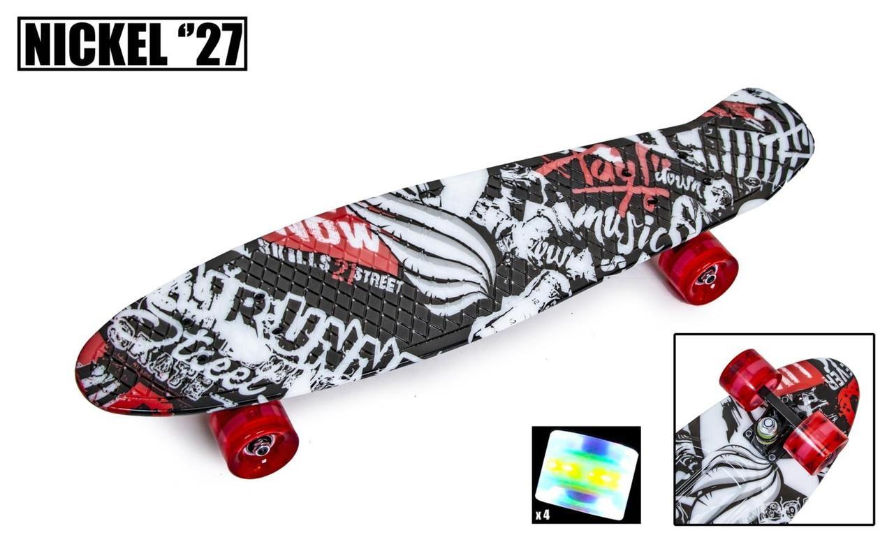 Пенни борд Penny 27″ Nickel с рисунком Street Светящиеся колеса - Скейтборды и роллерсерфы