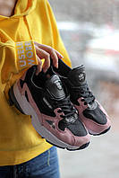Кроссовки женские Adidas Falcon Black/Pink (адидас фалкон) 36 размер