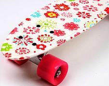 Пенни борд Penny 22″ с рисунком White Flowers - Скейтборды и роллерсерфы, фото 3