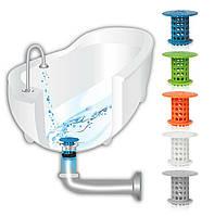 Пробка-затычка для ванны с фильтром от волос Tub Shroom (микс цветов) (3243)