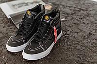 Кеды мужские Vans High Black (ванс высокие черные) 43 размер