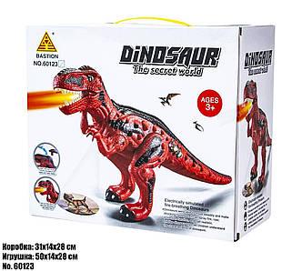 Интерактивные динозавр 60123 свет, звук, пар., фото 2