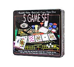 Набор карточных игр 5 в 1 - Настольные игры