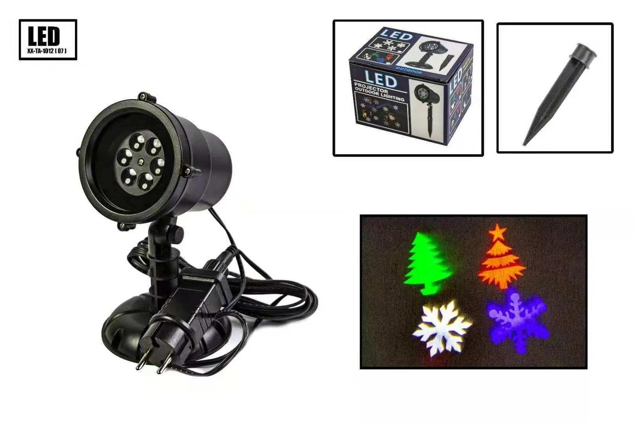 Лазерный проектор уличный (новогодний) X-Laser XX-TA-1012 - Праздничное освещение