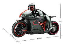 Мотоцикл радиоуправляемый 1:12 Crazon 333-MT01 (красный) - Радиоуправляемые игрушки, фото 2