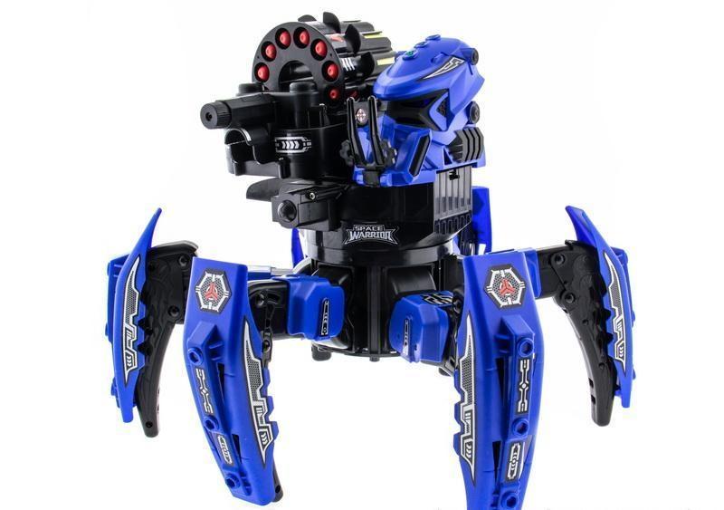 Робот-паук радиоуправляемый Keye Space Warrior с ракетами и лазером (синий) - Радиоуправляемые игрушки