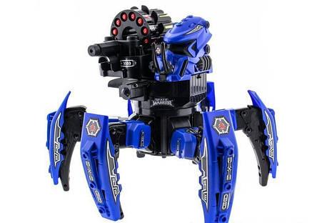 Робот-паук радиоуправляемый Keye Space Warrior с ракетами и лазером (синий) - Радиоуправляемые игрушки, фото 2